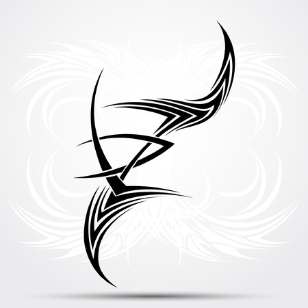 Sharp tribal tattoo. Vector illustration