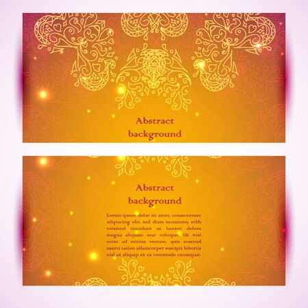 Vector ornamental banners. Vector illustration for business presentation