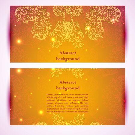 Vector ornamental banners. Vector illustration for business presentation