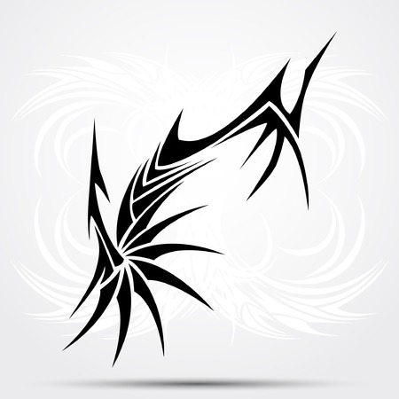 Sharp tribal tattoo. Vector illustration for tattoo saloons Illustration