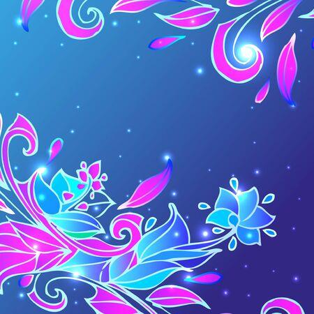 Blue flower background. Vector illustration Illustration