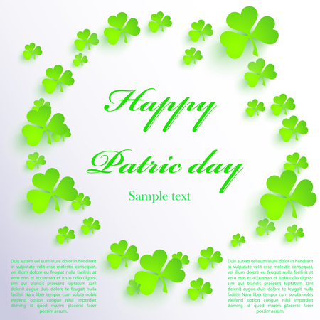 Happy Patric day background. Vector illustration