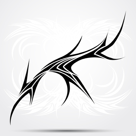 Sharp tribal tattoo. Vector illustration for tattoo saloons Illustration