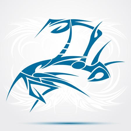 Blue Tribal tattoo