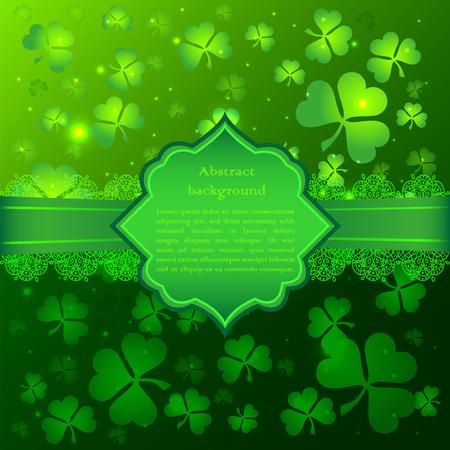 saint patrick's day: Green vector Saint Patricks Day greeting card