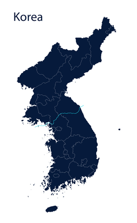 south asian: Map of Korea