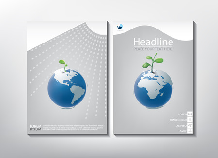 print template: Annual report brochure design template