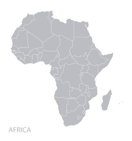 Kaart van Afrika continent