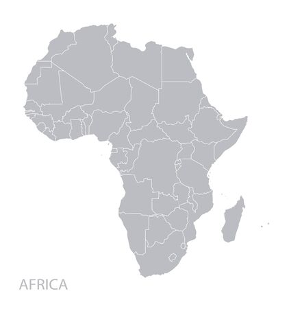 Map of Africa continent