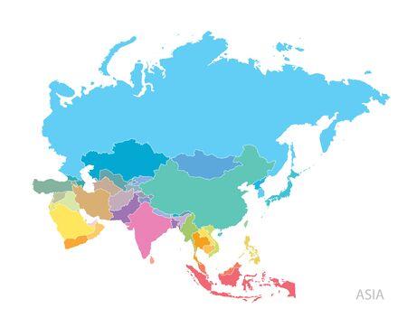 Carte de l'Asie continent