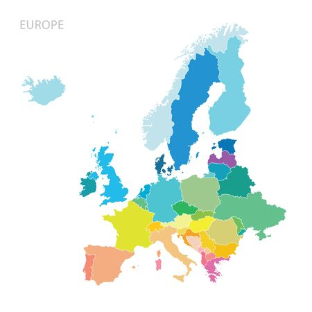 continents: Map of Europe continent