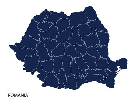 Map of Romania. Vector. Illustration