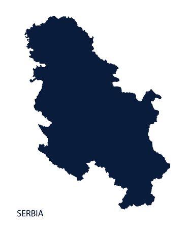 serbia: Map of Serbia. Vector. Illustration