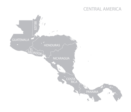 nicaragua: Map of Central America