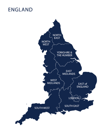Map of England.