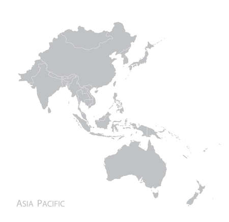 Map of Asia Pacific.  イラスト・ベクター素材