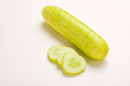 cucumbers on an isolated white background