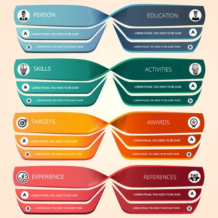 minimalist: Minimalist CV templates Business infographics Illustration