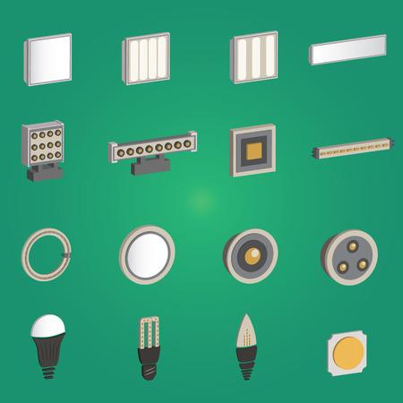 led: 3D LED Lamp Set