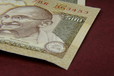 A five hundred rupee note  Indian Currency  Stock Photo
