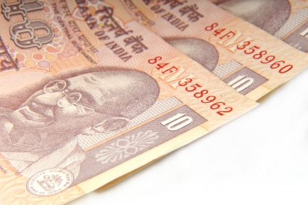 indian currency: Una sola nota rupia, moneda india