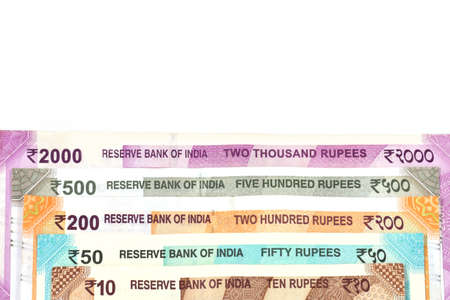 New Indian currency of 2000,500,200,50 and 10 rupee notes