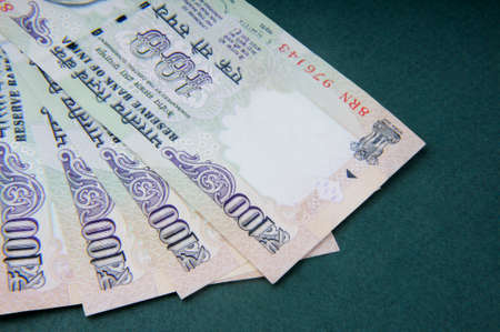 A one hundred rupee note ,Indian Currency