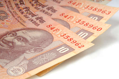A ten rupee notes ,Indian Currency