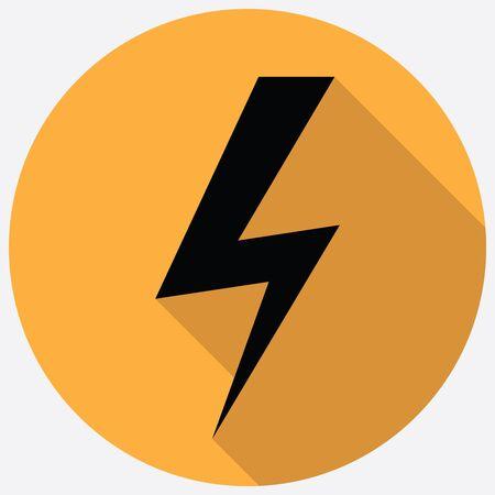 bolt: Lighting bolt flat icon Illustration