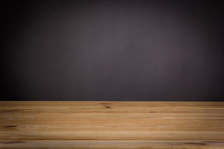 billboard posting: Empty wood table