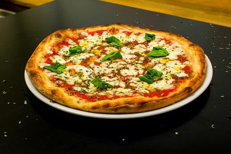 Delicious homemade margarita pizza