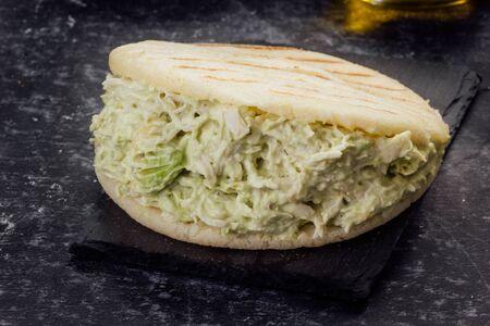 Arepa Reinapepeada. Typical Venezuelan food
