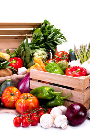 Different types of vegetables for a balanced diet Stock Photo