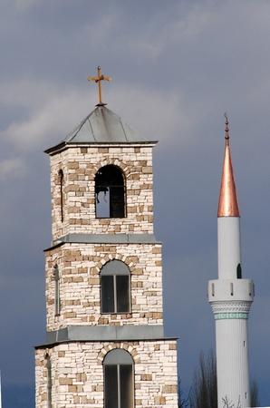 ortodox: ortodox dome and minaret  in macedonia