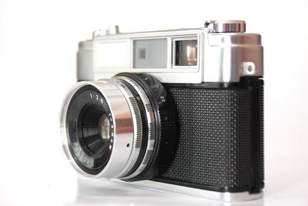 Old analog photo camera photo