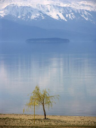 lake prespa and island golem grad,macedonia photo