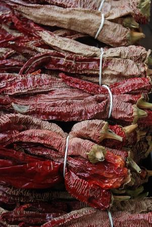 getrocknete Pfeffer in Markt