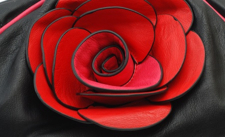 dolly bag: leather rose, detail of woman bag