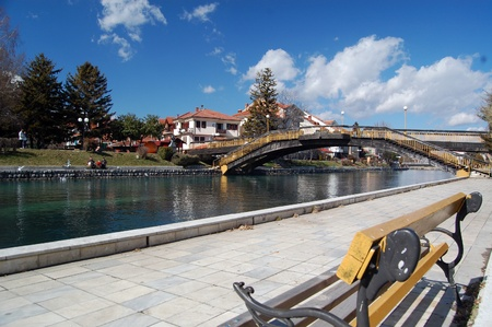 river drim, lake ohrid, city of struga,macedonia