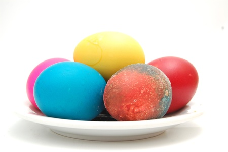 colorful eater eggs in  a bowl photo