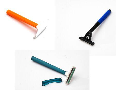 utiles de aseo personal: maquinillas de afeitar Foto de archivo