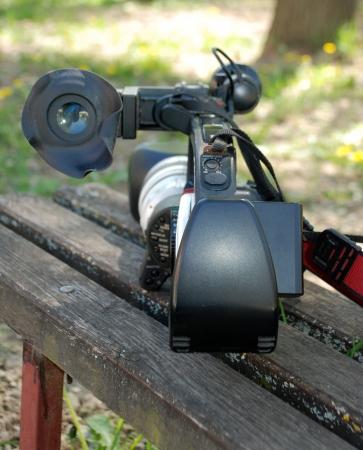 Professional digital video camera photo