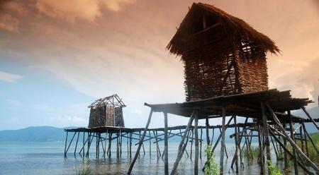 Fisherman village on lake Prespa,macedonia