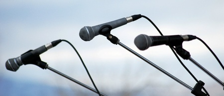 three microphones Stock Photo - 13456568