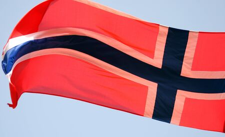 flag of norway Stock Photo - 13457388