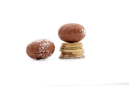confect: palline di cioccolato e in euro