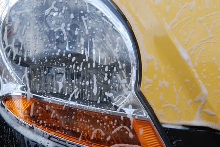 washing of car light Stock Photo - 13525871