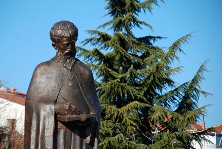 clement: monument of saint clement in ohrid, macedonia