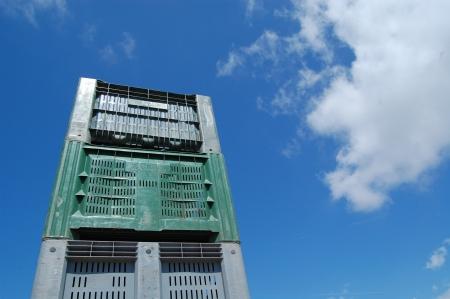 Commercial plastic crates photo