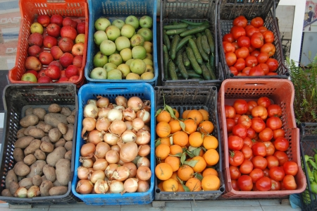 common market: fruits in a market